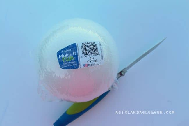 foam make it fun ball with knife