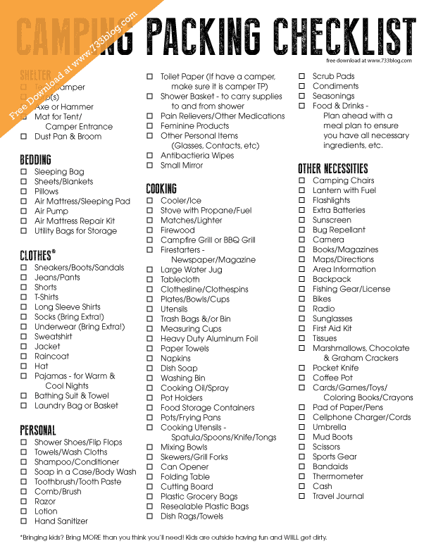 free-camping-checklist