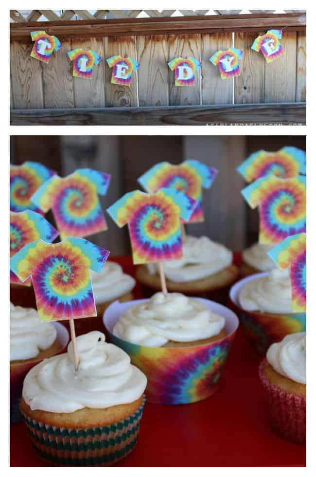 free printables for a tie dye party