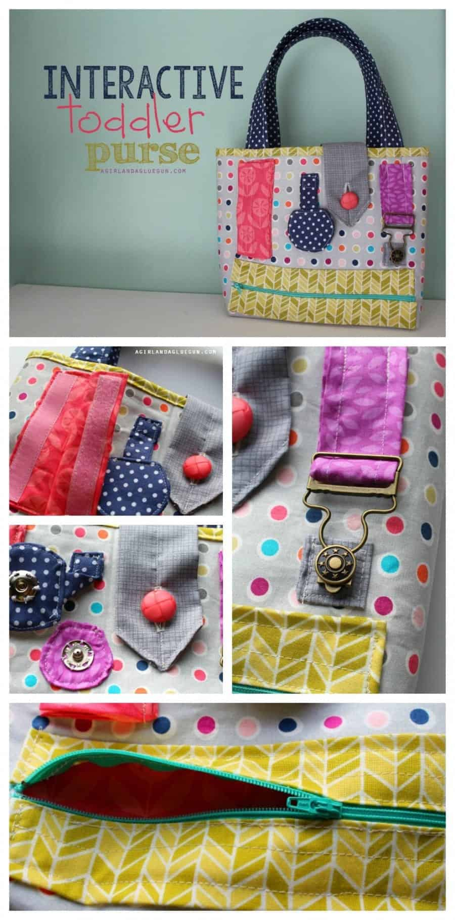 fun interactive toddler purse to keep your little one busy a girl and a glue gun