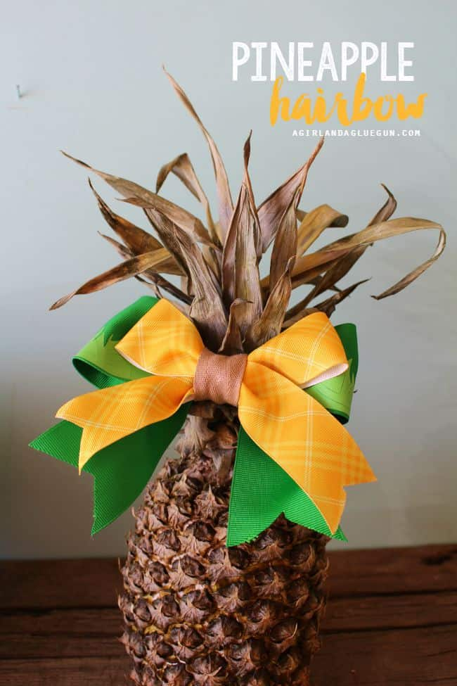 fun pineapple hair band