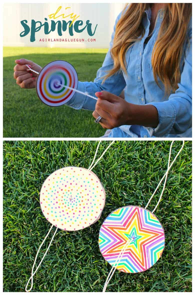 Diy Paper Spinner For Endless Fun Make And Takes