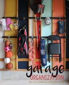 Garage organization with Rubbermaid Fasttrack