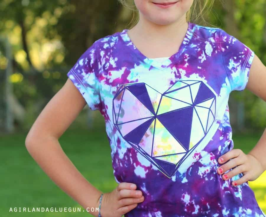 heart shirt with geometric