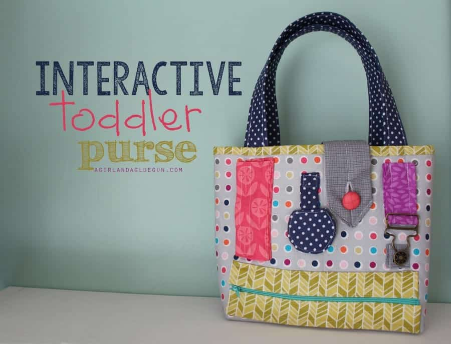 interactive toddler purse a girl and a glue gun
