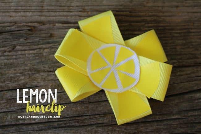 lemon hair clip