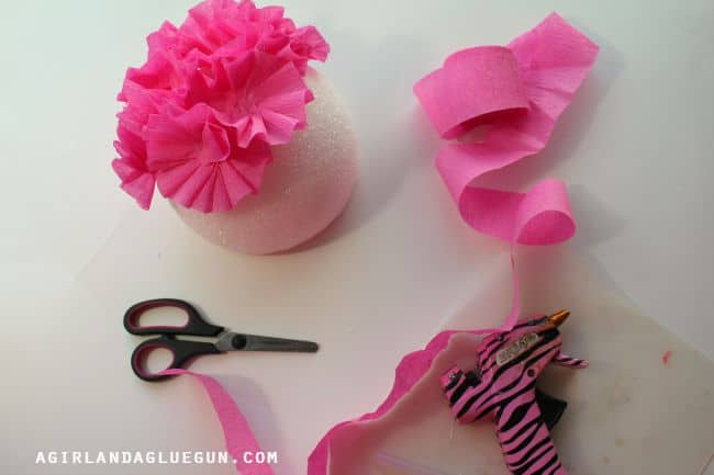 make flowers and hot glue