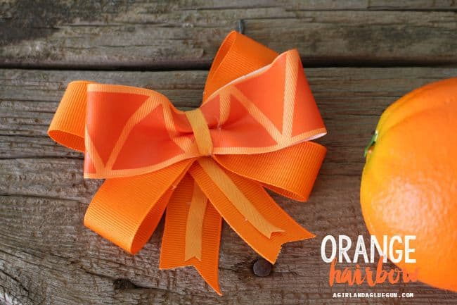 orange hair clip for summer