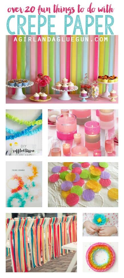 over 20 fun things to do with crepe paper