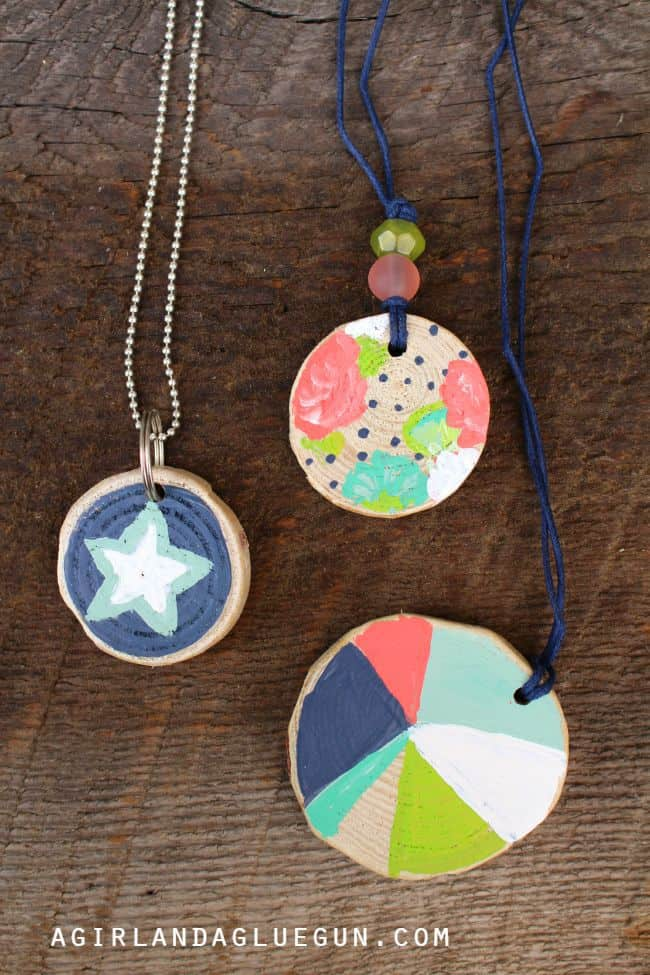 painted kids necklace