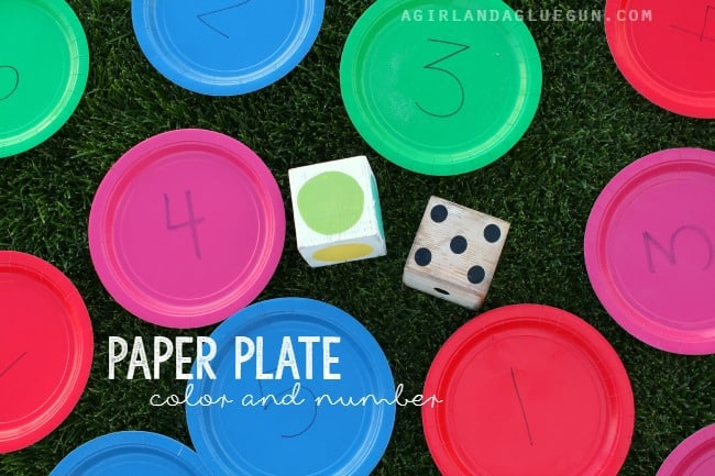 paper plate color and number