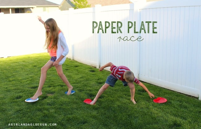 paper plate race