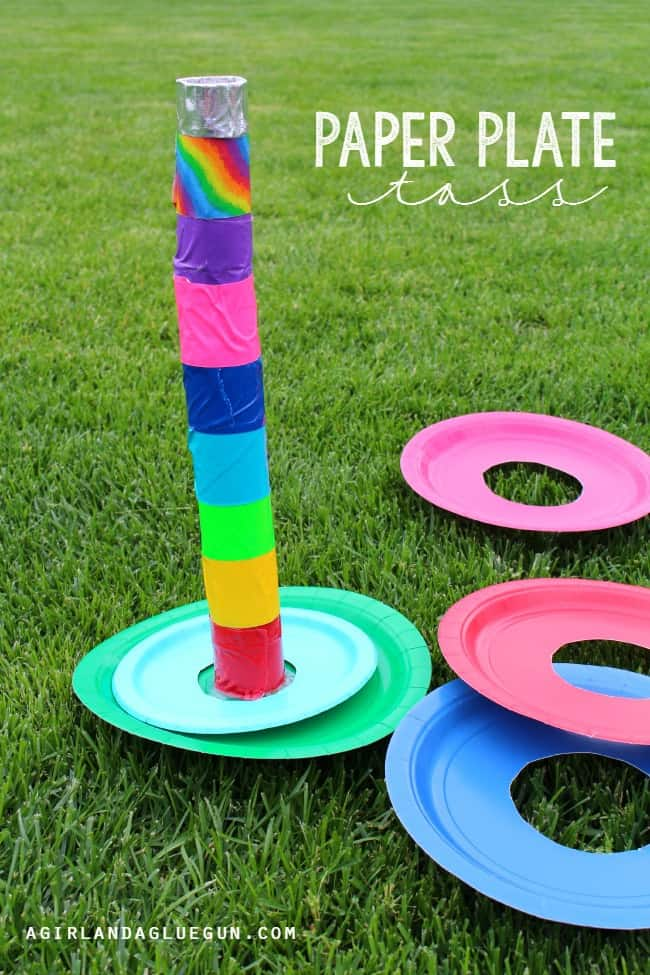 Paper Plate Toss! 5 easy and fun games to play with Paper Plates! Great summer activities!