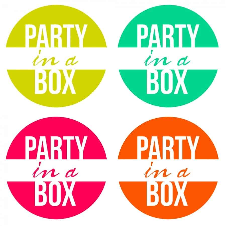party in a box free printable collage