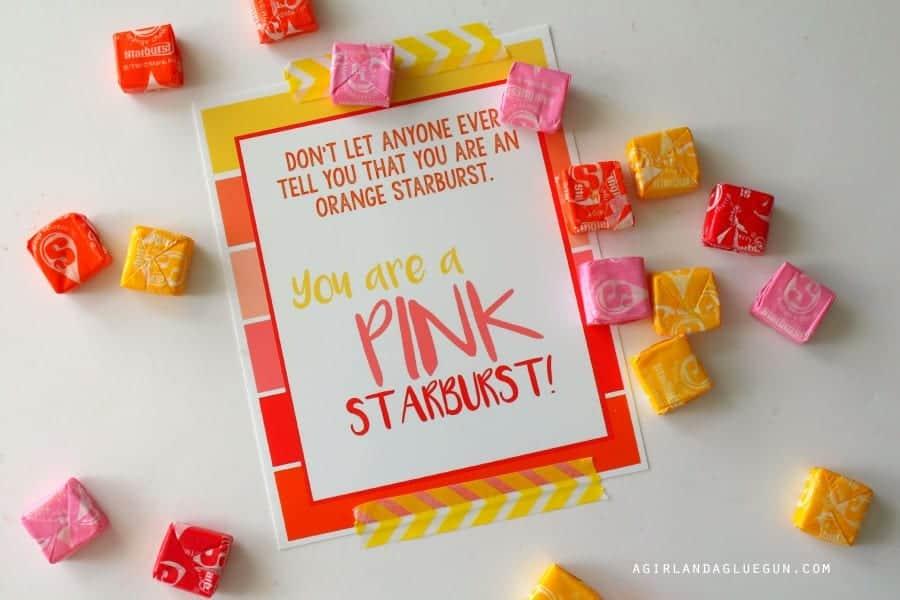 pink starburst free printable