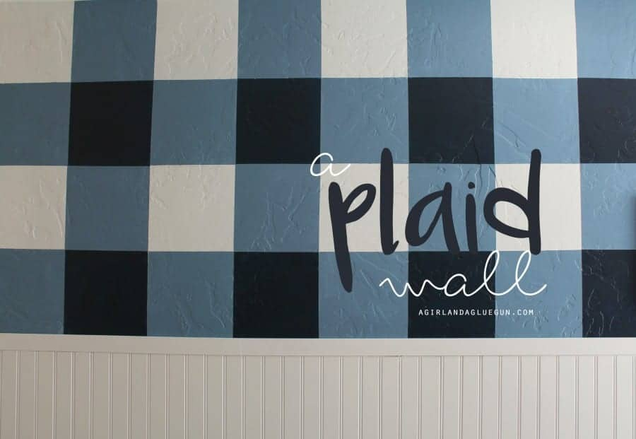 plaid wall with sherwin williams paint