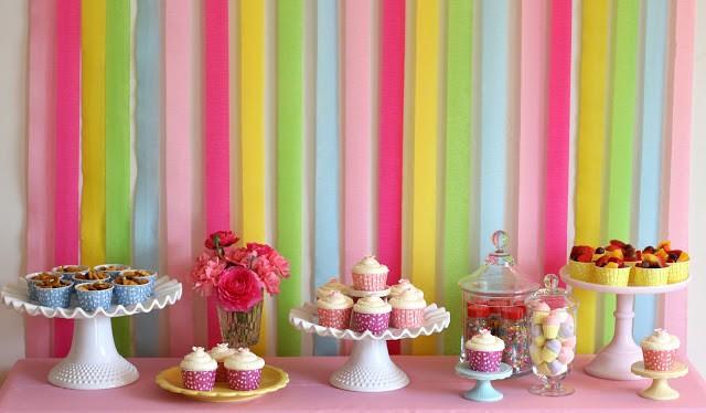 rainbow birthday food and desserts