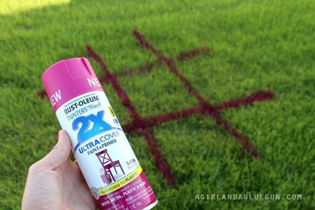 spray paint tic tac toe