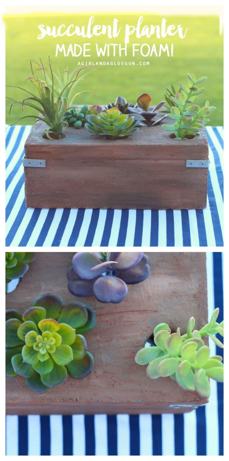 succulent planter made with foam!