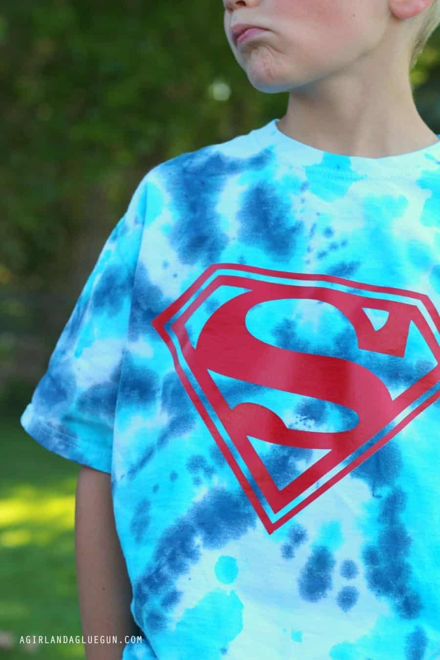 tie dye superman shirt diy