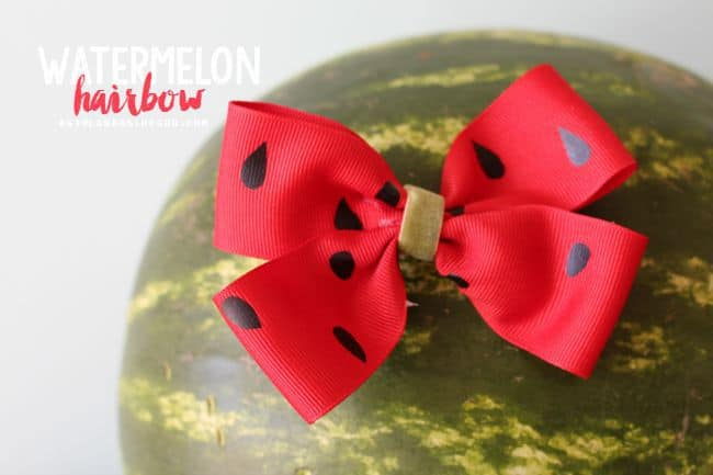 watermelon fruit hair do for hot glue and vinyl