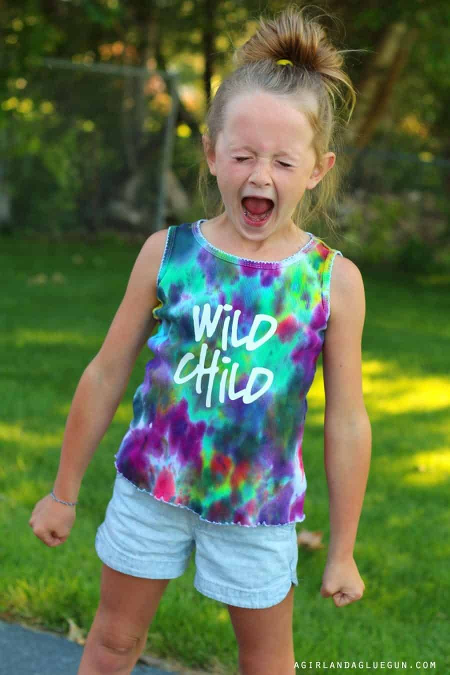wild child iron on t-shirt vinyl