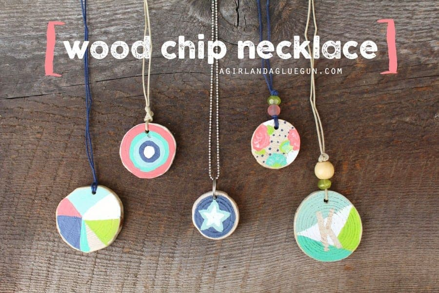 wood chip necklace diy