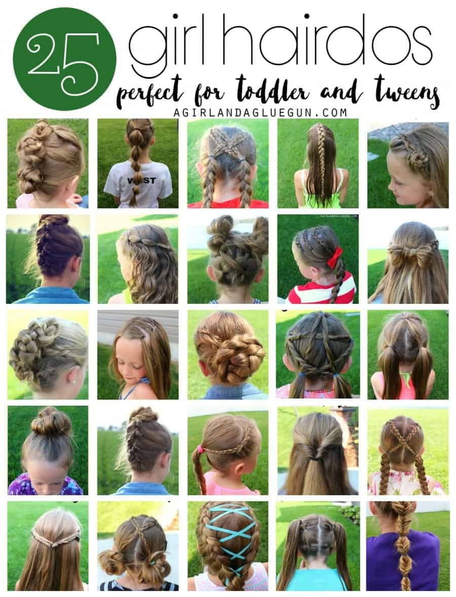 Easy Hair Styles For Kids 25 Girl Hair Styles For Toddlers And Tweens  A Girl And A Glue Gun