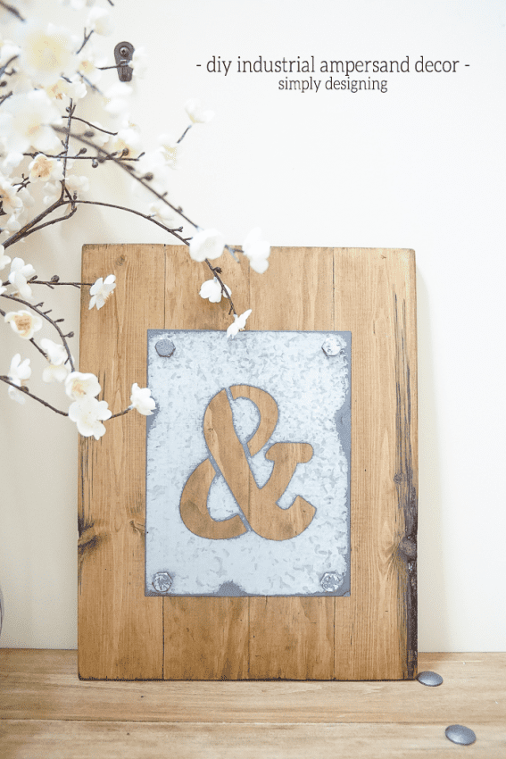 DIY-Industrial-Ampersand-Decor-I-love-how-simple-yet-striking-this-is-such-beautiful-diy-industrial-decor