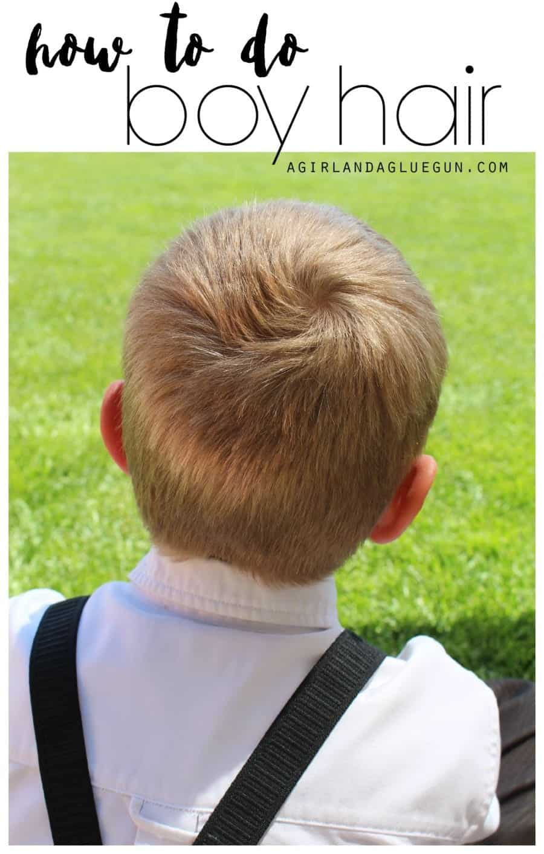 How to do boy hair