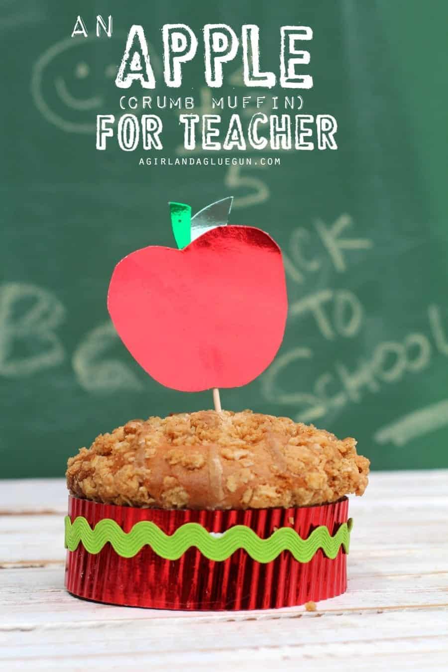 apple muffin teacher appreciation gift
