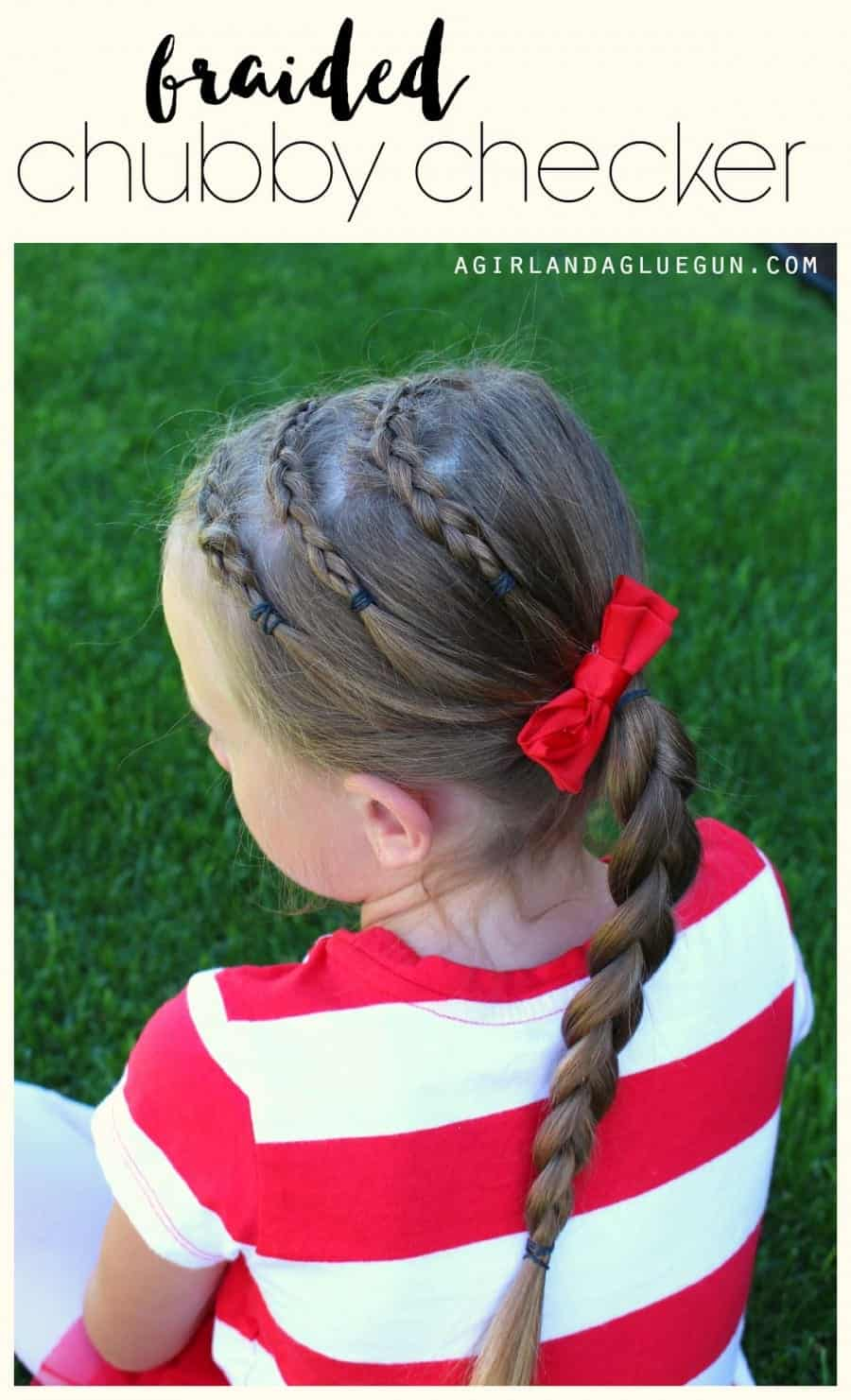 braided hair with side pony