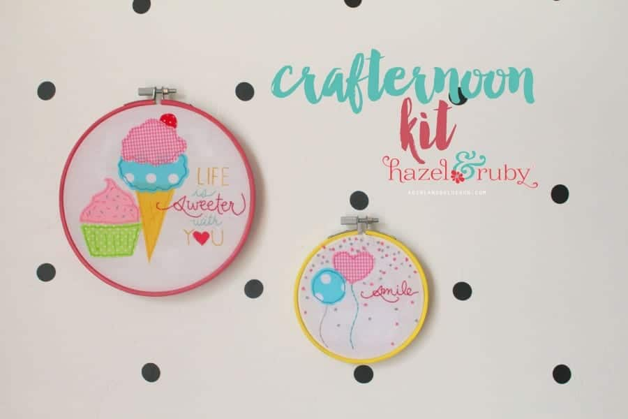 crafternoon kits by hazel and ruby