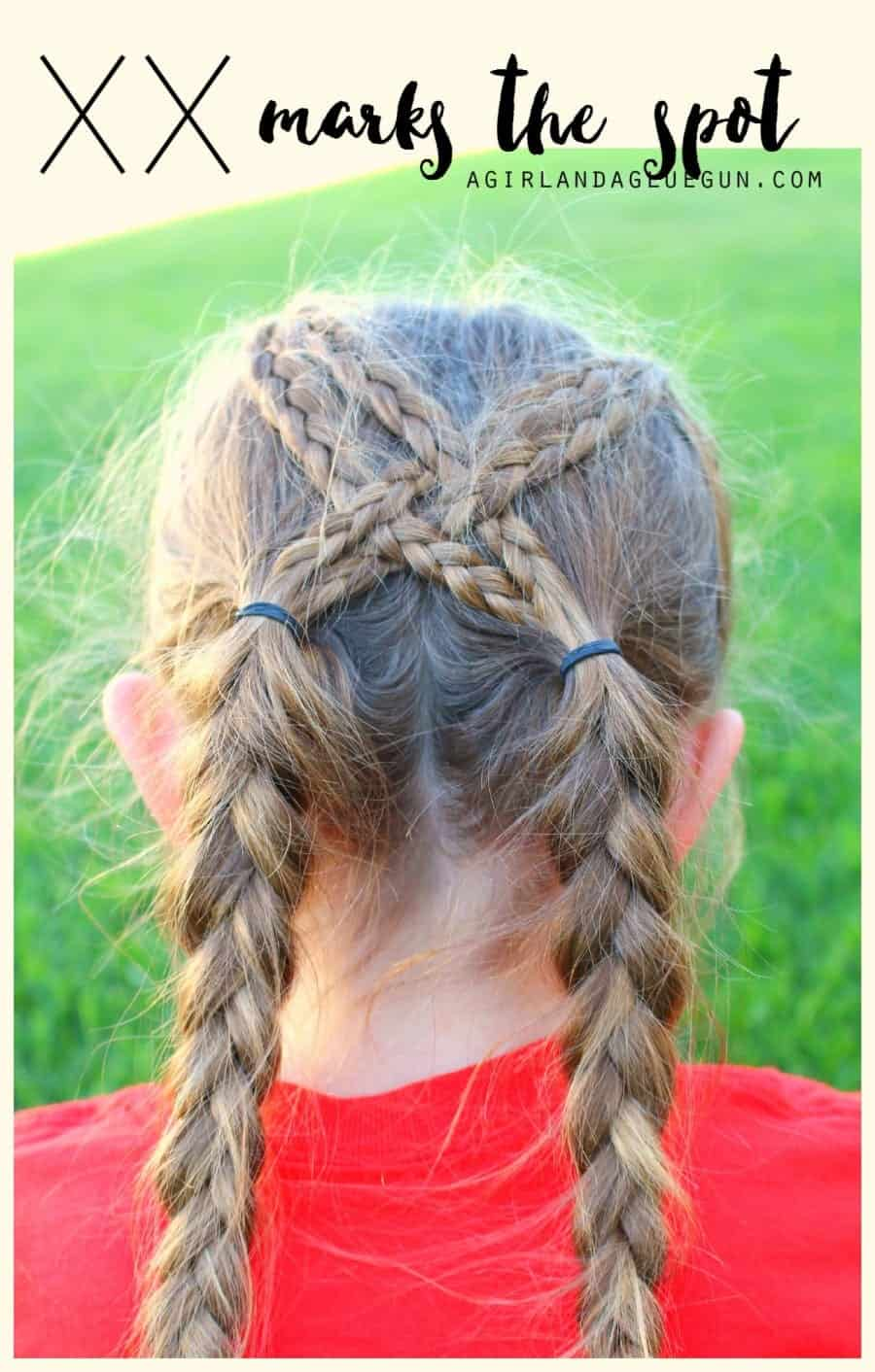 crossed braids for hair