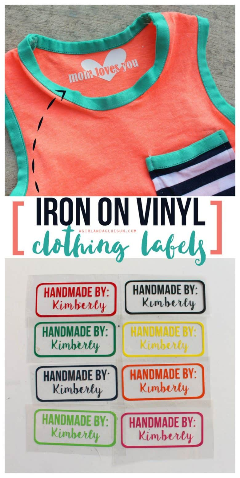 iron on vinyl tags for homemade clothes and giveaway a girl and a glue gun. Black Bedroom Furniture Sets. Home Design Ideas
