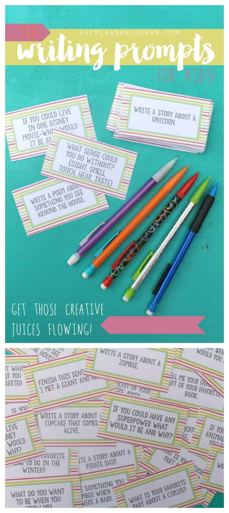 free writing prompts printables for kids