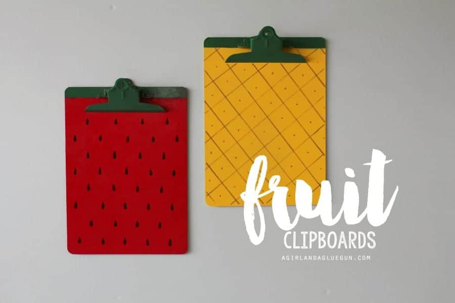 fruit clipboards with paint
