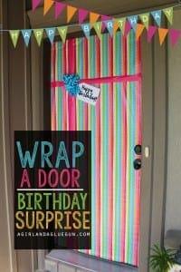 A birthday front door!
