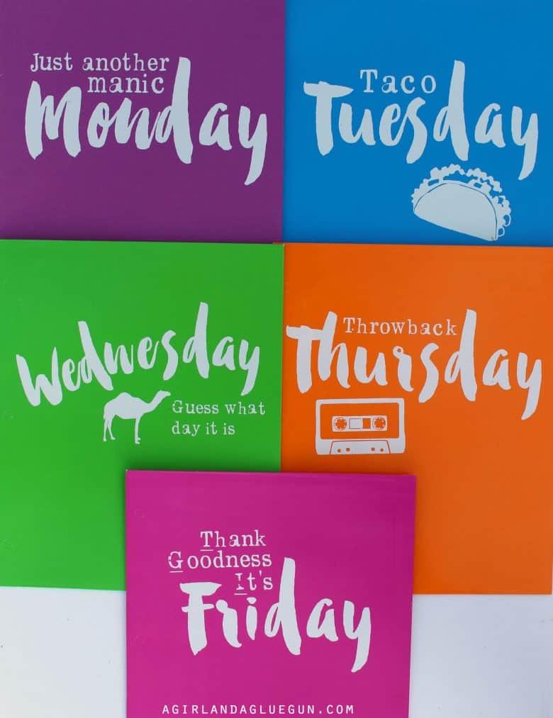 The Folder Of Cute Guys: Days Of The Week File Folders