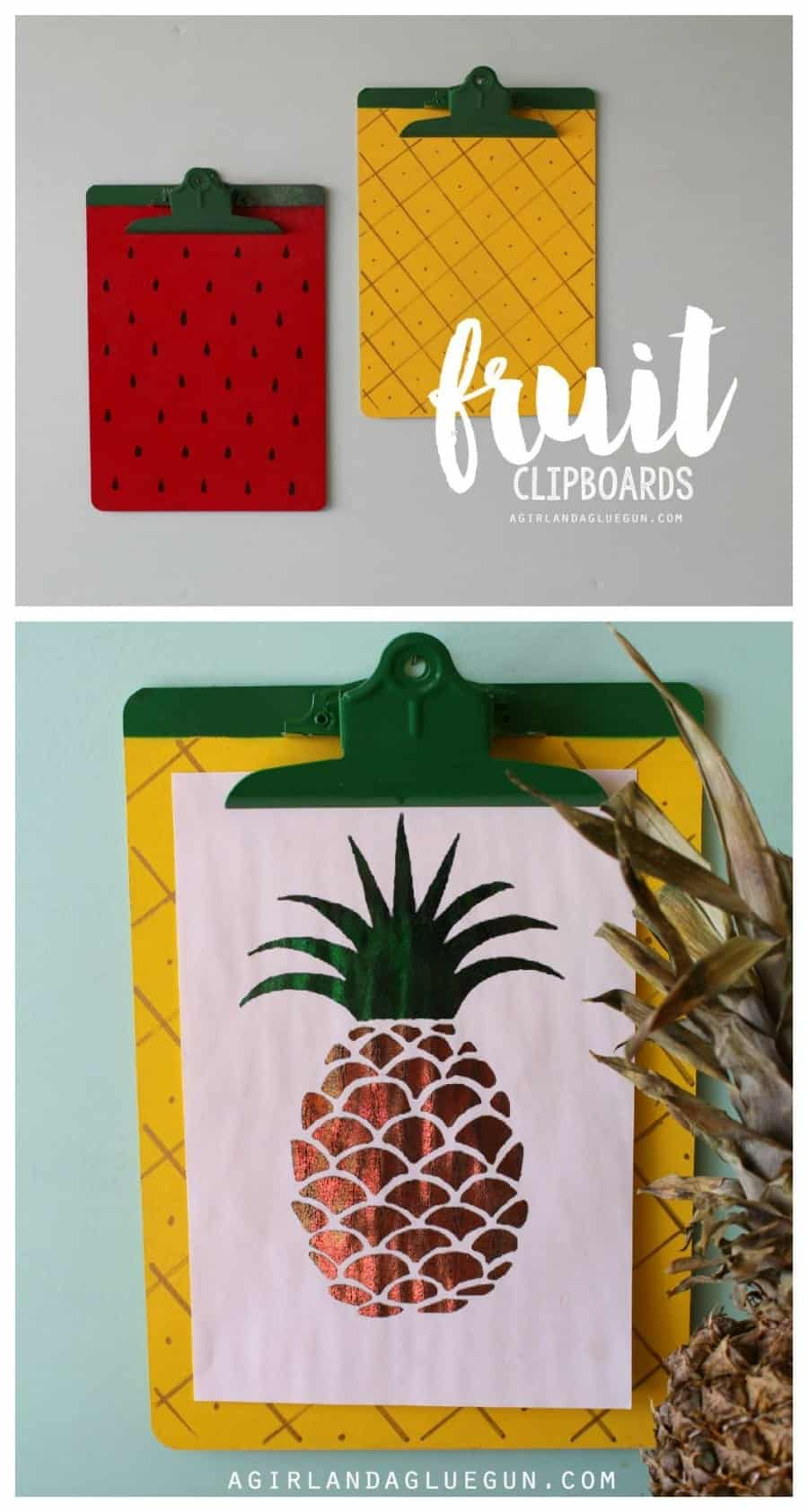 fun fruit clipboards with minc printables #foilallthethings