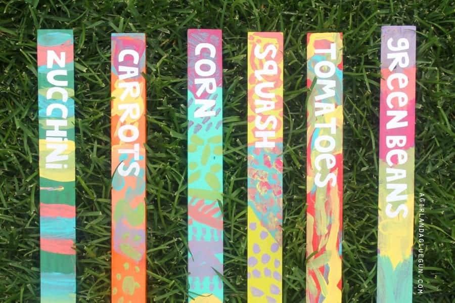 garden markers from paint sticks