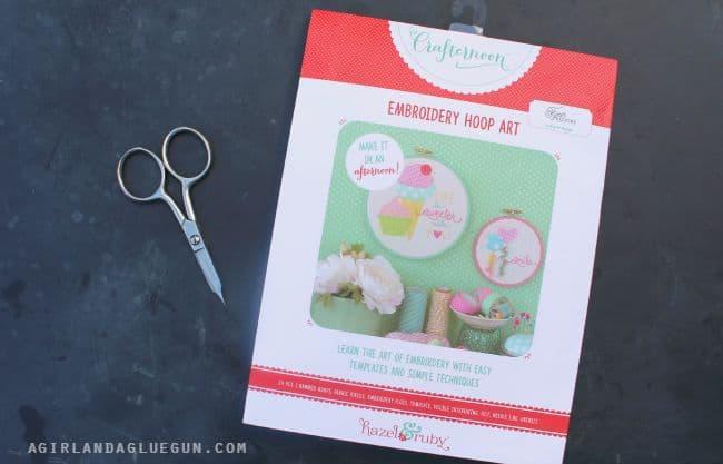 hazel and ruby embroidery hoop art kit