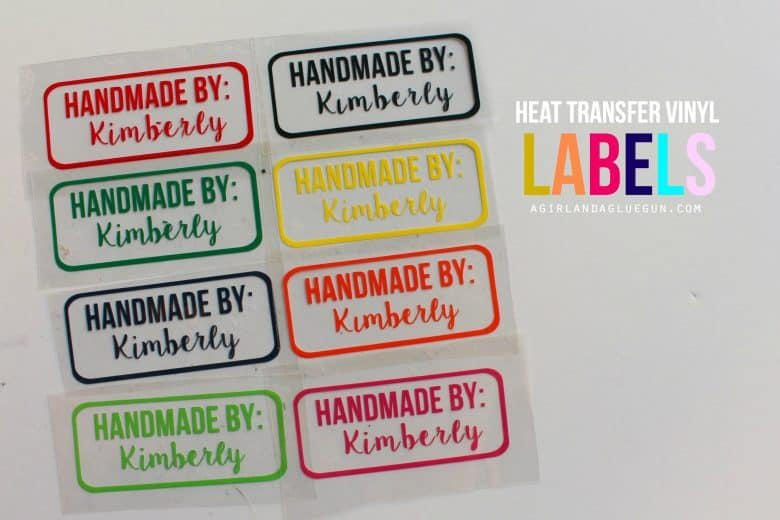 Iron on vinyl tags for homemade clothes and giveaway a for Heat transfer labels for t shirts