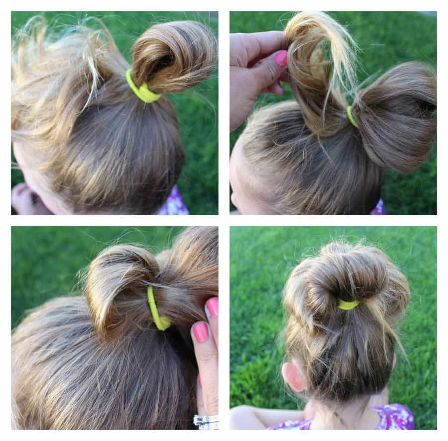 25 girl hair styles for toddlers and tweens a girl and a glue gun how to make a faux messy bun urmus Gallery