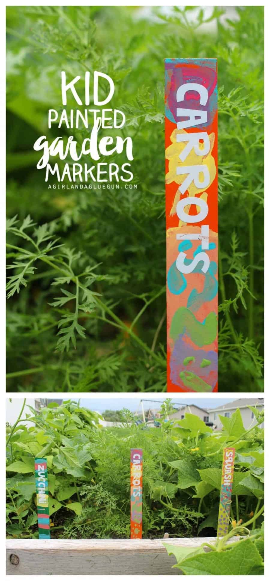 kid painted garden markers fun craft