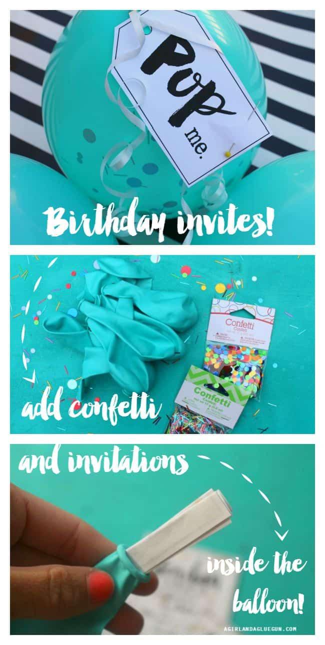 party balloon birthday invitations. Pop the balloon for invites - A ...