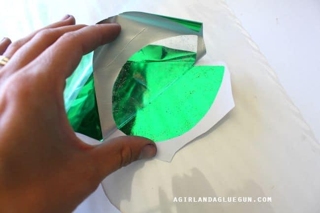 peel up the foil