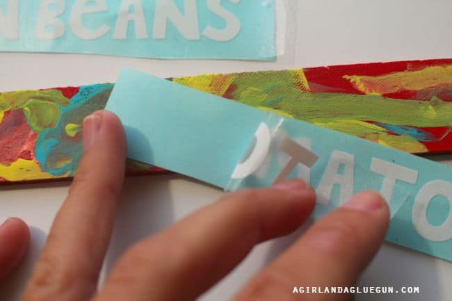 peel up transfer tape