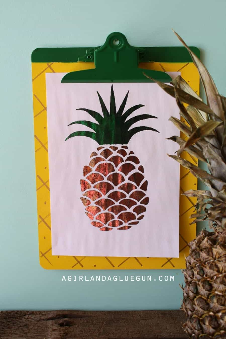 pineapple foil art