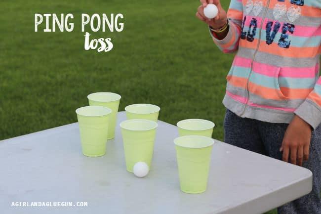 ping pong toss